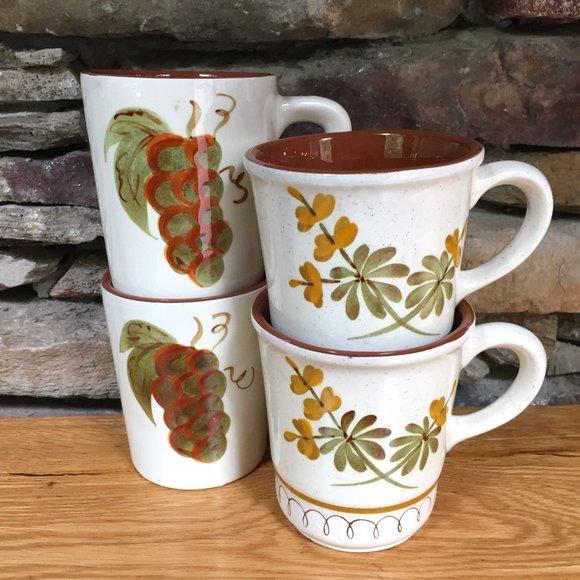 VTG 4 Stangl Mugs Orchard Song Golden Blossom
